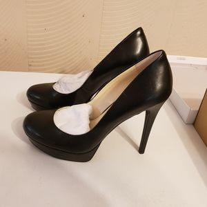 JS Baleenda Black platform pumps